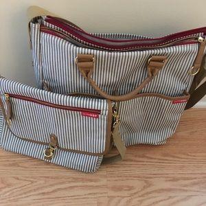 Skip Hop Diaper Bag & Mini Diaper Bag